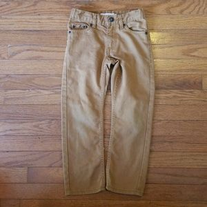 Boys Levi's 511 slim size 6 regular tan/khaki